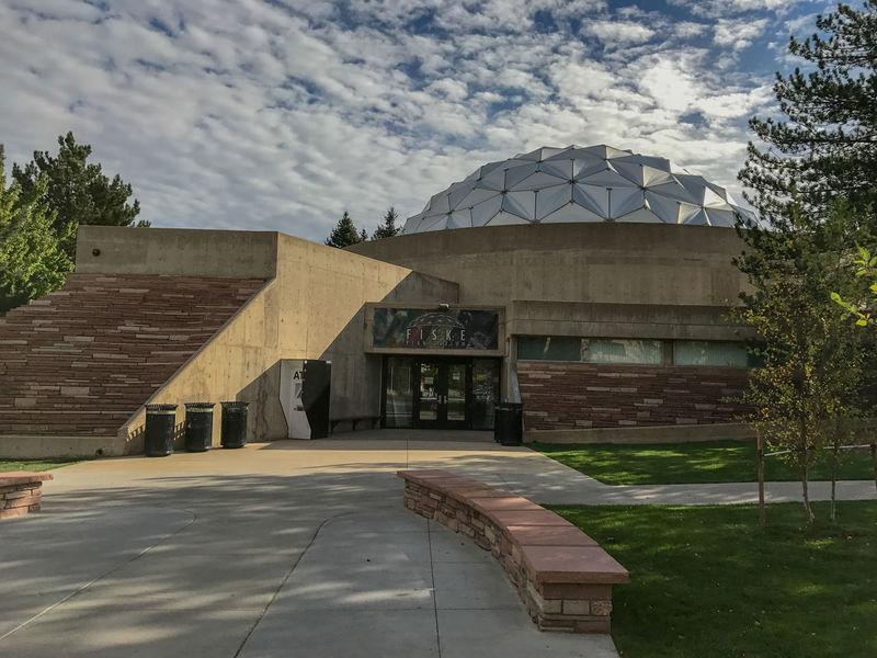 Fiske Planetarium, University of Colorado at Boulder Architecture Boulder Building Exterior Built Structure Cloud - Sky College Colorado Day Entrance Famous Place Fisk International Landmark Outdoors Planetarium Space The Way Forward Tourism Trees