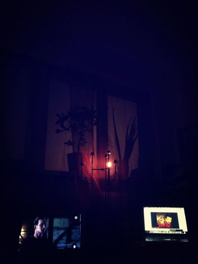 Tv on mute, Music on play, candles, incense and spliff lit. 4am Silhouette Window