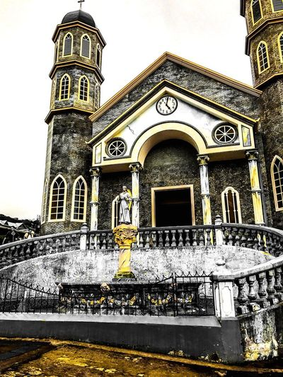 Paint The Town Yellow Architecture Built Structure Building Exterior Religion Place Of Worship History Day Low Angle View No People Outdoors Window Spirituality Travel Destinations Costa Rica Geometric Shape Art EyeEm Gallery Architecture Eye4photography  EyeEm Best Shots Architecture_collection Historic Worship Religious Architecture