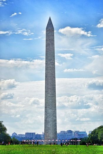 View of monument against cloudy sky