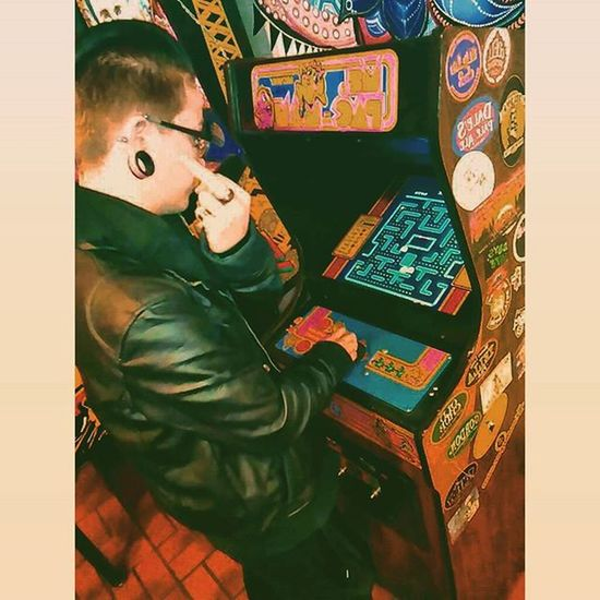 Playing Mspacman at D.P. Dough in Boulder, Colorado Killed their high score ✌