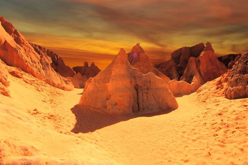 Morro Branco, Brazil Nature Sky Sunset Beauty In Nature Tranquil Scene Cloud - Sky Tranquility Scenics Landscape Sand No People Mountain Outdoors Day Travelphotography Rickeherbertphotography Desert Lost In The Landscape
