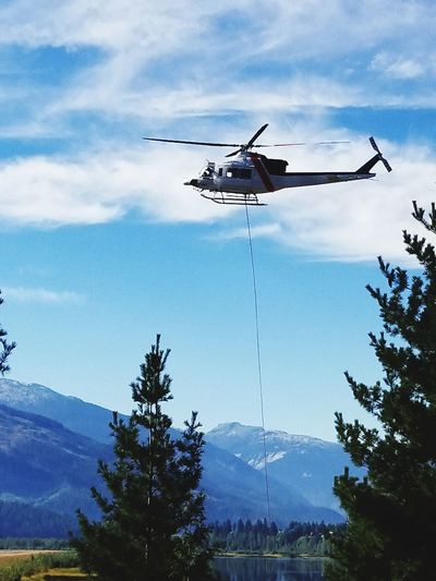 Revelstoke airport fire responce helicopter landing Flying Helicopter Rescue Emergency Services Occupation Aerospace Industry Forest Fire Mid-air Danger Fire Water Bomber