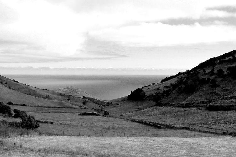 Black And White Azores Santa Maria Edge Of The World