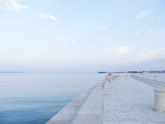 Cloud - Sky Copy Space Early Morning Horizon Over Water Horizontal Sea And Sky Sea Organ Sky Solitude Tourist Attraction  Tourist Destination Tranquil Scene Tranquility Travel Destinations Waterfront