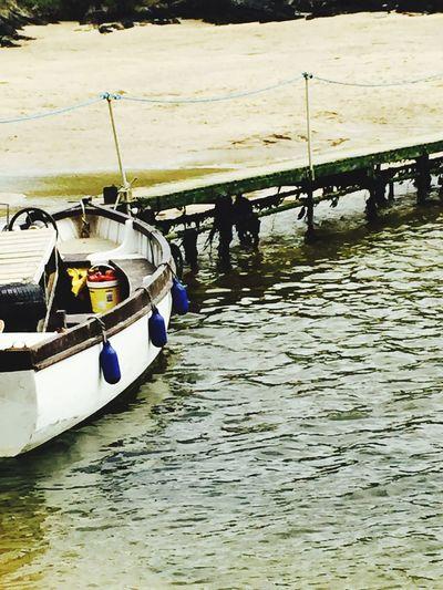 Beach Crantock Boat Bridge Sea Mode Of Transport No People Cornwall
