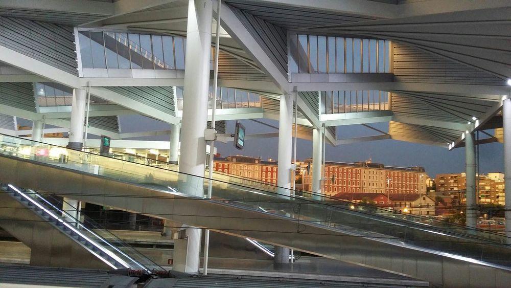 Cities At Night Train Station Train Renfe Madrid Atocha