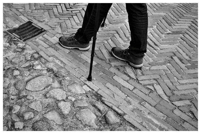 Blackandwhite Blackandwhite Photography Blackandwhitephotography Blackandwhitephoto Black And White Black And White Photography EyeEm Best Shots - Black + White Low Section Standing Human Leg Men High Angle View Stone Tile Shoe Ground Footwear Things That Go Together