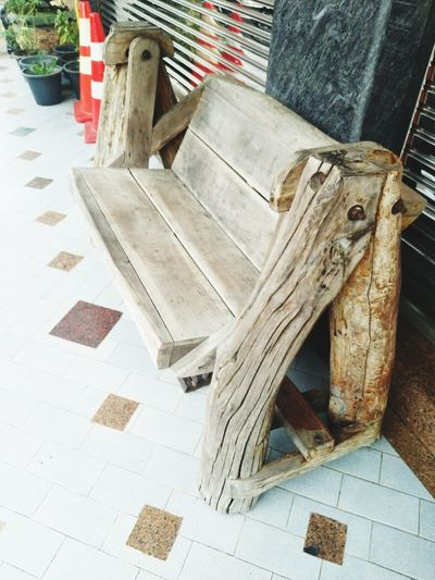 Bench, Thailand Close-up Bad Condition Damaged Run-down Old Ruin Rusty Civilization Peeling Off Wooden Obsolete Archaeology