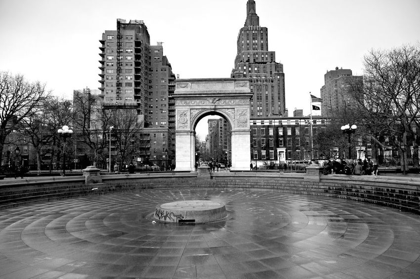 Washington Square Park-Greenwich Village Arch Architecture Building Exterior Built Structure City Day History Large Group Of People Outdoors People Sculpture Statue Tourism Travel Travel Destinations Tree