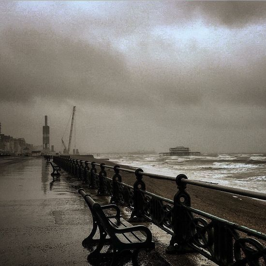 Rainy day in Brighton ugh:: Brightonpier Brightonbeach Oldtown City Life Culture Brighton Pier Brighton Beach Eye4photography  Lifestyle Reality