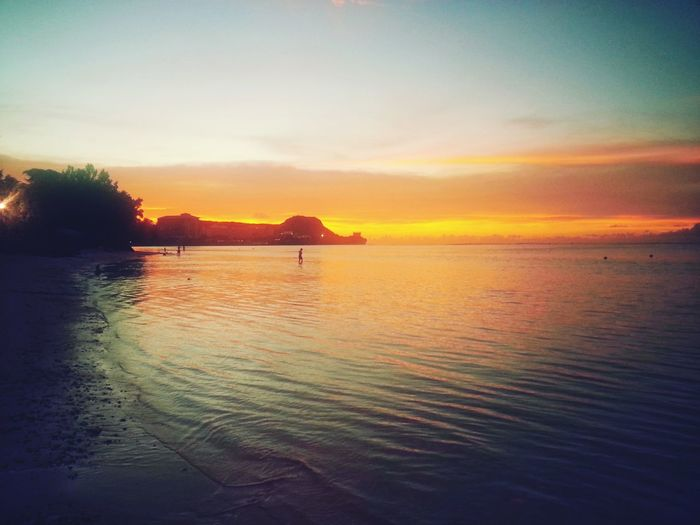 Traveling In Guam Beachbumming Sunset