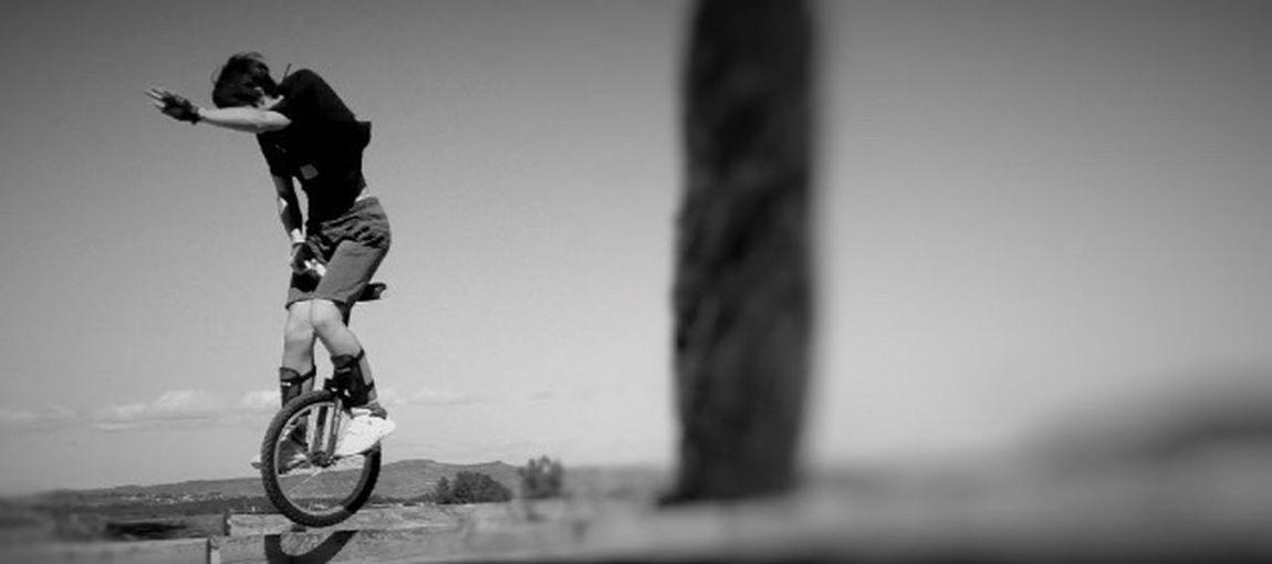 Celebrate Your Ride Unicycle Jump Blackandwhite EyeEm Best Shots EyeEm Nature Lover EyeEm Best Edits EyeEm Gallery Showcase March Bestpic Bestoftheday Training Unicycle! Passion Monocycle Learning Iphonephotography Things I Like Showcase April Alternative Fitness My Favorite Photo