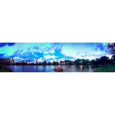 Panorama Uhuru Park towards town. Panorama Cityscapes CityofNairobi City water waterreflections iPhoneography iphonephotography iphoneonly photosynth mextures mexturesapp clouds WWIM10Nai WWIM10