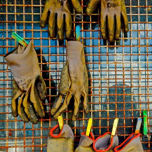 ...on the shore of Wapengo Lake, between Bermagui and Tathra, are various oyster sheds... Gloves Grilles Oyster Farm Pegs Plastic Shed Working Gloves ındustry