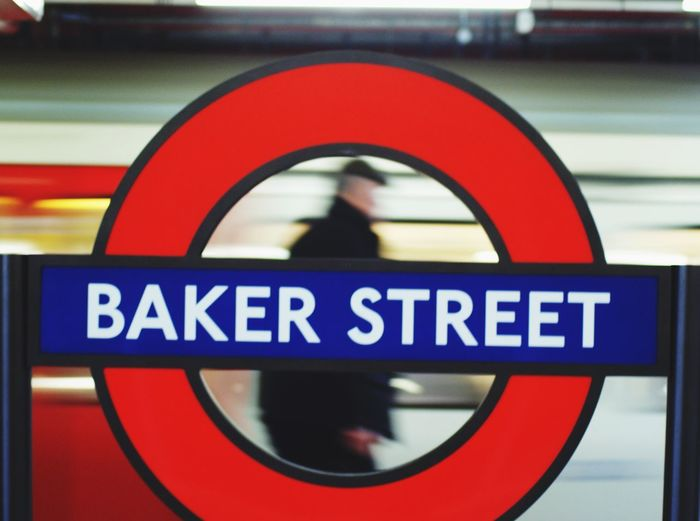 Underground Communication Sign Text Close-up No People Western Script British Culture Circle Geometric Shape Red Transportation Focus On Foreground Capital Letter Mode Of Transportation Station