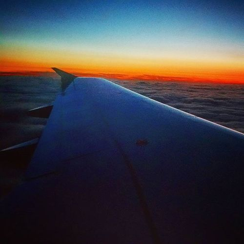 Somewhere over the rainbow! A good evening to all of you! 🌅 Sunset Overtherainbow Flight Evening Sky Plane ✈ Sonnenuntergang Abend Flugzeug Picoftheday Instamood Nature