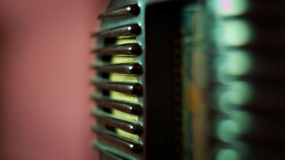 close-up photo of an old valve radio (50's) Radio Valves Valve Old Vintage Speaker Station Knob Knobs Grid Brodcast Audio Sound Entertainment Style Retro 50's  Object Listening To Music Frequency Frequency Modulation Wave Voice Antique Volume