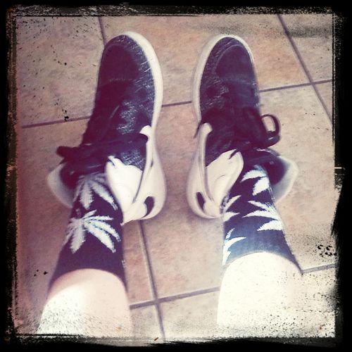 Huf Socks Weed DOPE Nike Force