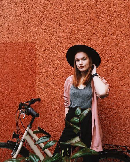 my hat • my blazer • my bike • and my best friend in Berlin Check This Out Bestfriend Portrait Fashion