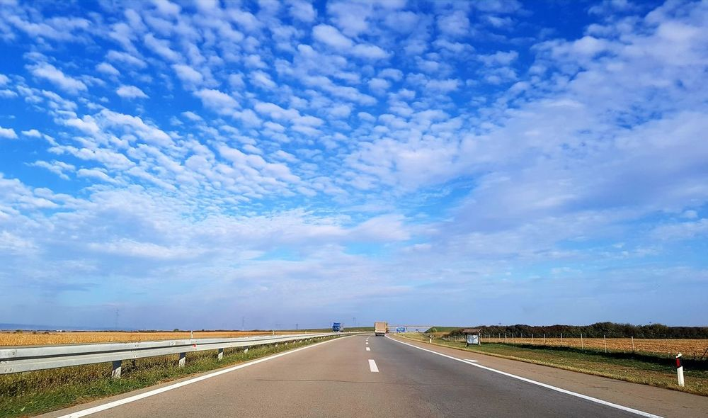 on the road Road Blue Desert Sky Landscape Cloud - Sky