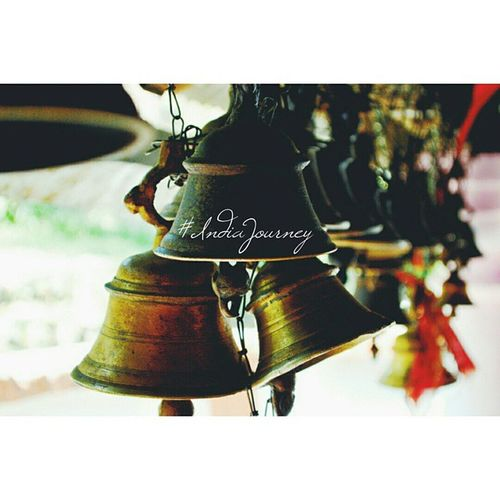 A bell's not a bell 'til you ring it, A song's not a song 'til you sing it, Love in your heart wasn't put there to stay, Love isn't love 'til you give it away! - Oscar Hammerstein II IndiaJourney India Bells Indiantemple Indiapictures Indiaphotos Incredibleindia Temples Music
