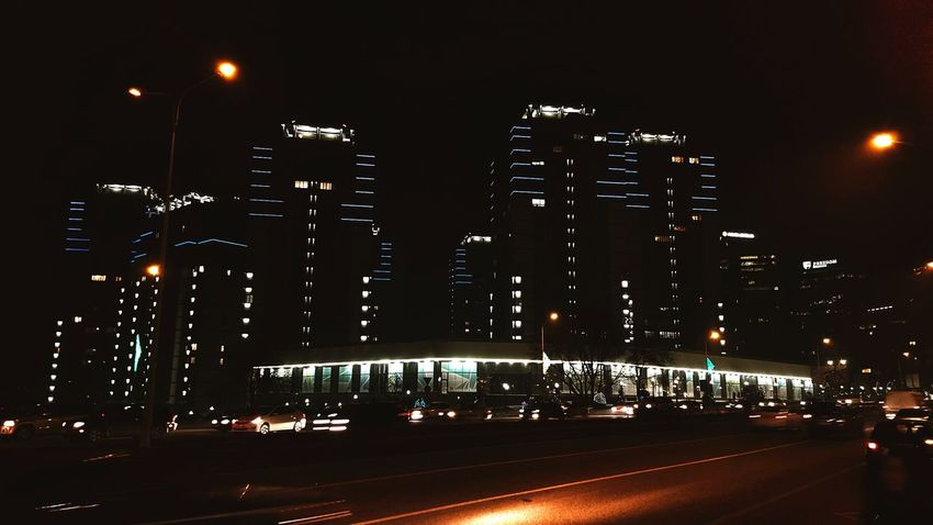 Cities At Night Almaty AFD Plaza Night View