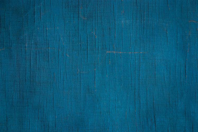 Full frame shot of blue wooden wall
