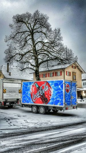 Colorful.... Winter Trees Hdr_gallery Snow Day Hdr_pics Coca Cola Coca Cola Truck Hdr_Collection Colorful