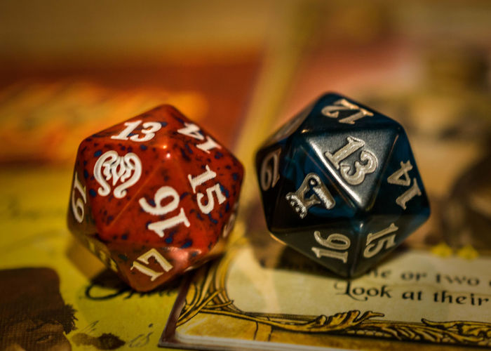 Chance Close-up D20 Day Dice Gambling Indoors  No People Number