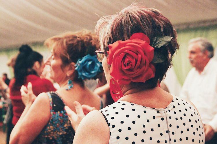 Real People Women Leisure Activity Clapping Feria De Abril Festival Festive Celebration Spanish Culture