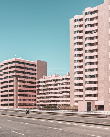 Pink row along