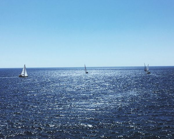 Eye4photography  EyeEm Nature Lover Let's Do It Chic! Sea PeopleOfTheOceans Sailing Clear Sky
