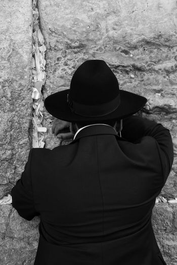 Jerusalem, Israel, Jews pray at a holy place. City Historic Holy Holy Place Israel Jerusalem Men Old Times Old Town Prayers Tradition Traditional Travel Westernwall