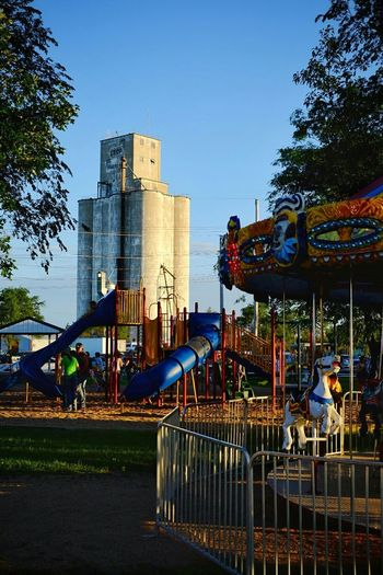 Carnival Small Town USA MidWest Kansas Farm Life A Day In The Life Check This Out Grain Elevator Portrait Of America Carousel