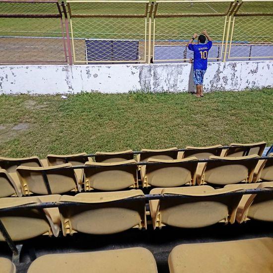 Bleachers Crowd Football Fan Football Fever Loneliness Lonely Soccer Stadium