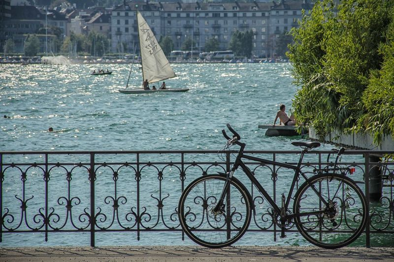 Bicycle Boat Day Enjoy Your Ride Mode Of Transport Nautical Vessel Outdoors Sailing Water Celebrate Your Ride The Great Outdoors - 2016 EyeEm Awards The Essence Of Summer People Of The Oceans