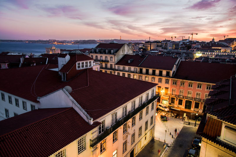 City Cityscape Colourful Light Portugal Skyline Sunset_collection Travel Travel Photography Architecture Bluehour Building Exterior Built Structure City Cityscape Cloud - Sky High Angle View Lisbon Night Outdoors Sky Skyporn Street Sunset Travel Destinations