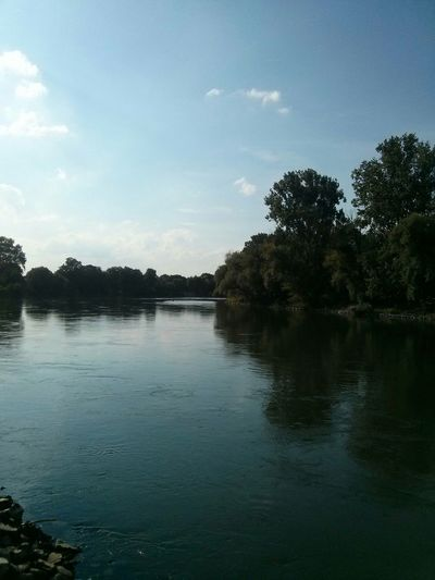 Danube River Straubing Germany Water Current