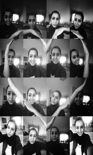 Heart ❤ Lady Hijab Black & White