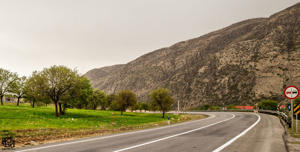 Nature is beautiful and also amazing. this is one of the God`s miracle. Asphalt Clear Sky Country Road Day Diminishing Perspective Empty Road Mountain Nature Road The Way Forward Transportation Tree