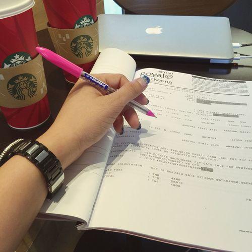 Cappucino Exam Drinking A Latte Coffee Phuket,Thailand