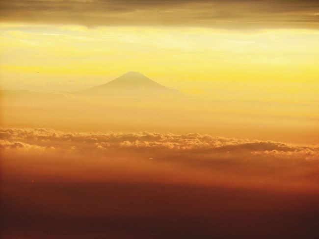 #FujiSan #plain Scenics - Nature Beauty In Nature Orange Color Tranquility Tranquil Scene Cloud - Sky Sun No People Dramatic Sky Mountain First Eyeem Photo