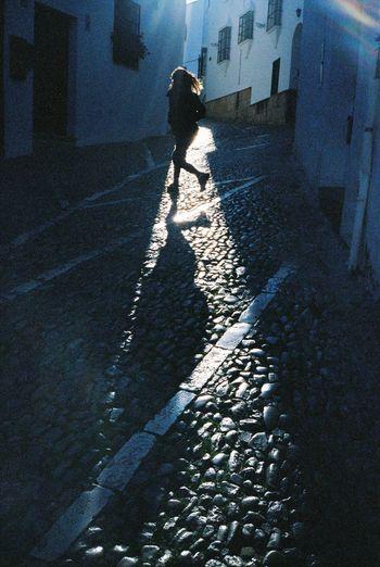 On The Move Contax T3 35mm Film Film Kodak Portra Ronda Streetphotography Enjoying Life Light And Shadow Jumping