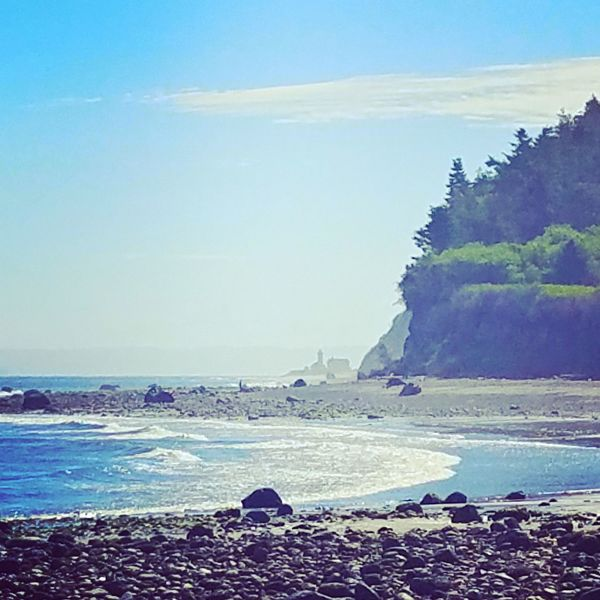 Beach Water Blue Horizon Over Water Landscape Outdoors Beauty In Nature No People Sky Lighthouse Port Townsend Washington Straits Of Juan De Fuca North Beach, Port Townsend Sea Sand Nature Scenics Clear Sky Day