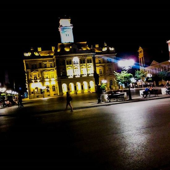 Cityhall Miletic Night Light Photo Capture Moment Love Instaphoto Trgslobodenovisad Novisad
