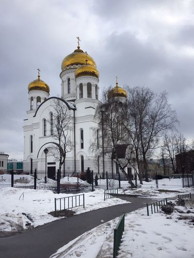 Snow Cold Temperature Winter Architecture Built Structure Building Exterior Dome Nature Sky Cloud - Sky Building Travel Destinations Spirituality White Color Place Of Worship Religion Belief Day Outdoors