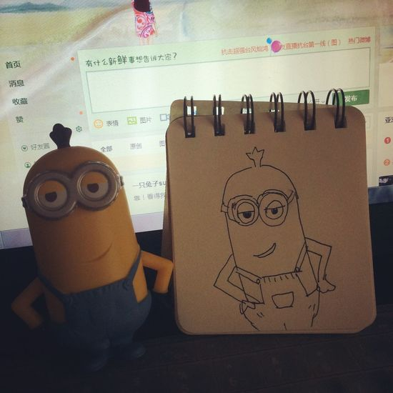 Despicableme Minions Draw Something very ugly painting😆