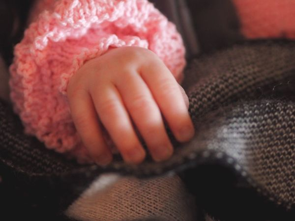 Real People Indoors  Human Hand Close-up One Person Textile Human Body Part Warm Clothing Day People Infant Baby Baby's Hand Fragility Strength New