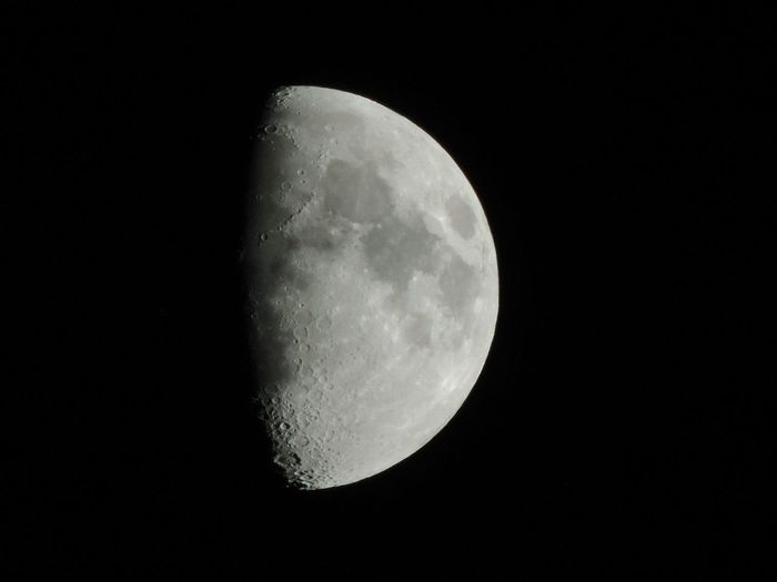 Good Night. Moon Night Astronomy Moon Surface Beauty In Nature Space And Astronomy Space Sky Half Moon Outdoors Good Night Straubing Good Night World 2017 EyeEm